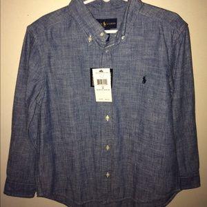 NWT Polo Boys Chambray Botton-down Shirt
